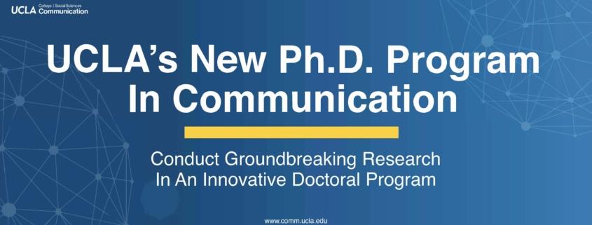 Comm PhD Banner